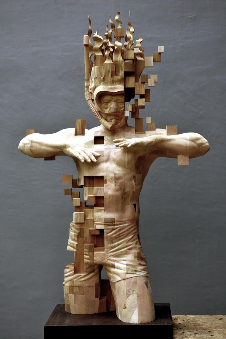 Glitch Wood Carving